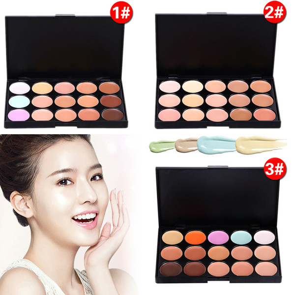Professional 15 Colors Concealer Foundation Contour Face Cream Makeup Palette Tool for Party Wedding Daily Ladies Makeup Contour Palette