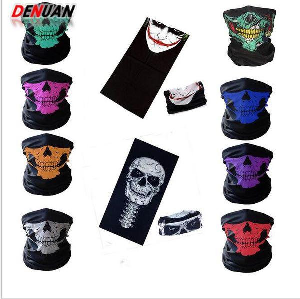 Skull Half Face Mask Scarf Bandana Bike Motorcycle Scarves Scarf Neck Face Mask Cycling Cosplay Ski Biker Headband