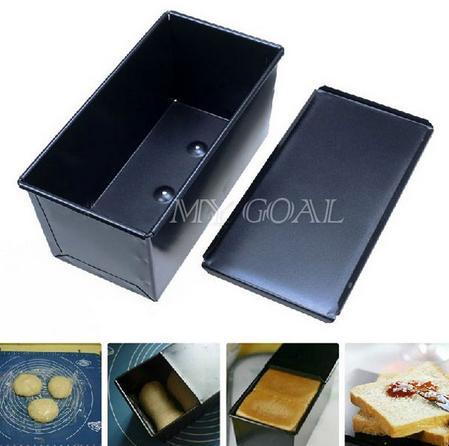 Al por mayor-Rectángulo antiadherente caja de pan de hojalata cocina pastelería Pan para hornear pan Bakeware