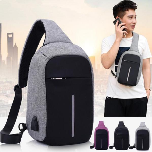 Zaino per notebook anti-furto con porta USB di ricarica Bambini Zaino per notebook da uomo con una borsa business 3 colori 5 pezzi OOA3173