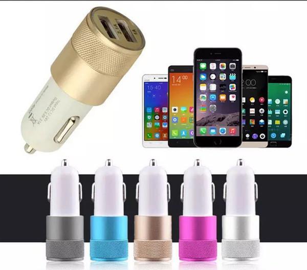 Adaptateur allume-cigare universel pour chargeur de voiture en métal, universel 12 volts / 1 ~ 2 ampères pour Apple iPhone, iPad / Samsung Galaxy / Droid Nokia Htc