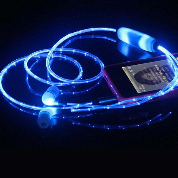 Auricular LED Estéreo Luminoso Auricular Auricular Jack 3.5 mm Auricular Iluminación nocturna Auricular con micrófono para Xiaomi Samsung PC