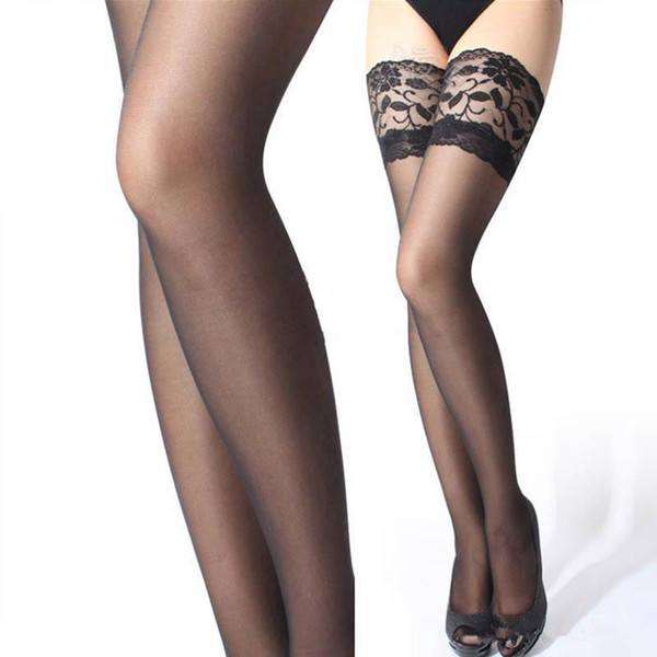 top popular Hot Sexy Lace Suspender Stockings Summer Girls Long Socks Over Knee Silk Stocking Thigh-Highs Stockings Lace Stocking Top Solid 2021