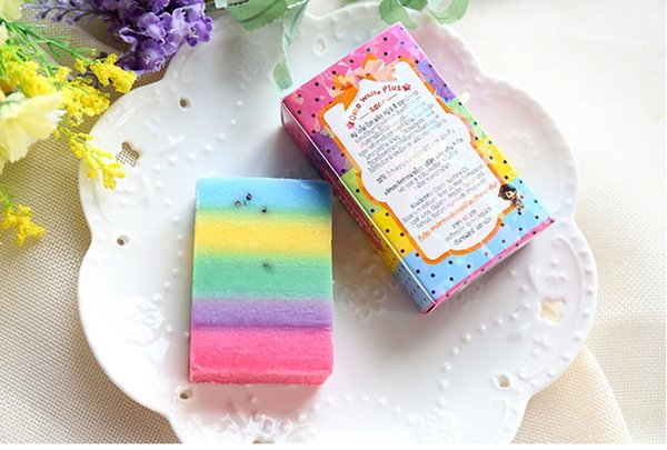 10pcs New Arrivals OMO White Plus Soap Mix Color Plus Five Bleached White Skin 100% Gluta Rainbow Soap with retail packing b146
