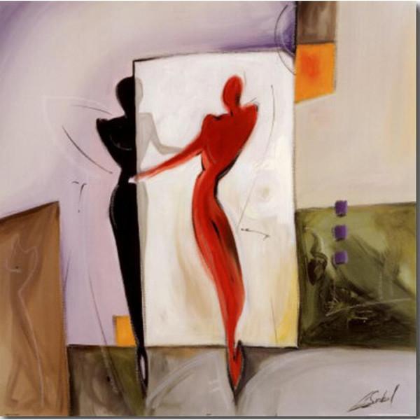 Alfred Gockel Ayna Görüntü tarafından soyut yağlıboyalar yüksek kaliteli el-boyalı sanat tuval üzerine