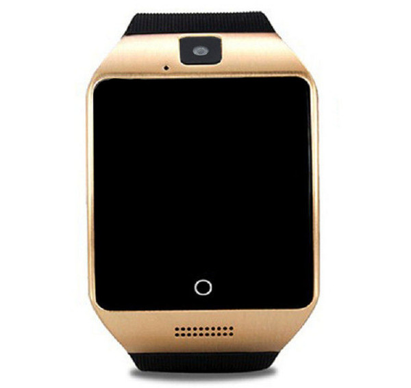 top popular Q18 Smart Watch 4 Colors Bluetooth Watches Android with 0.3M Camera MTK6261D Smartwatch for android phone Micro SIM TF card Men Sports 2020