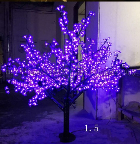 Purple Christmas Tree Lights.2017 New Led Christmas Light Cherry Blossom Tree Light Leds 6ft 1 5m Height 110vac 220vac Rainproof Outdoor Usage Drop Shipping Myy Cheap String