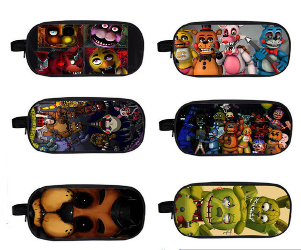 top popular FNAF Five Nights at Freddy's Double-deck Bag Student School Pencil case 9.5 2021