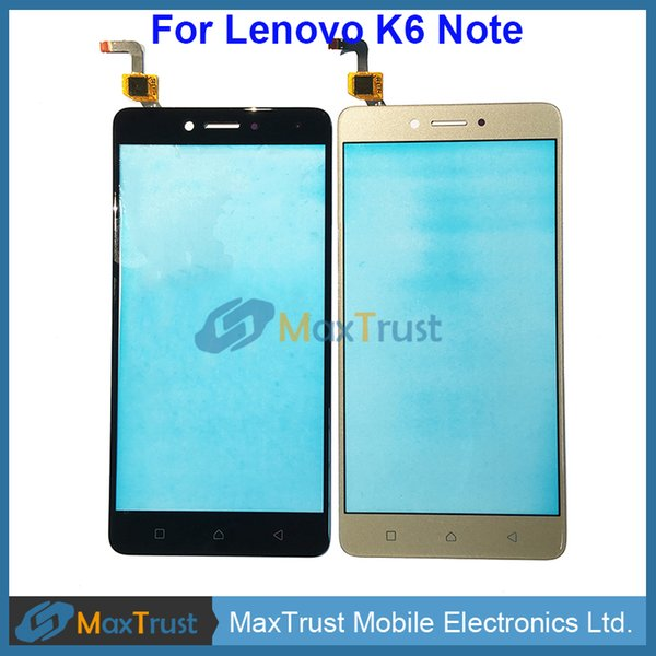 2019 Top Quality 5 5 For Lenovo K6 Note Touch Screen Digitizer Front  Touchscreen Panel Sensor Black White Gold Color From Maxtrust, $62 32  