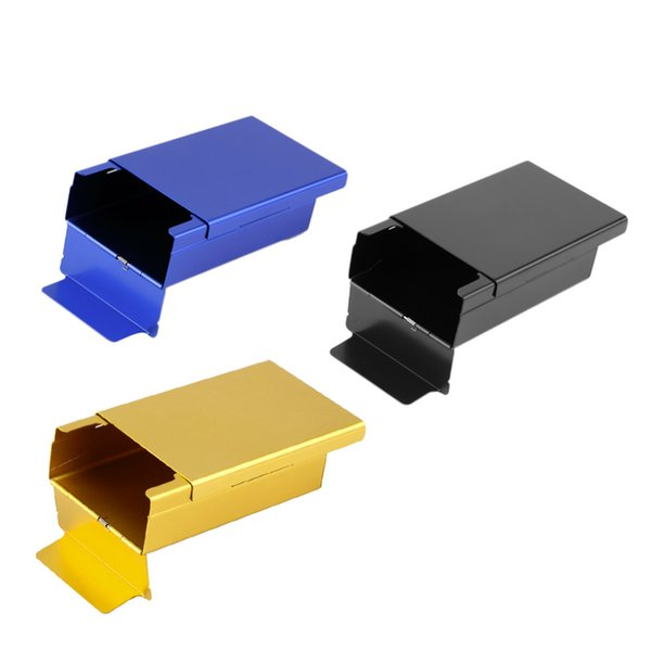 Push Open Aluminum Cigar Cigarette Tobacco Holder Pocket Storage Box Case
