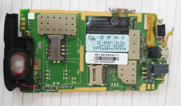 Unlocked used test work for lenovo A208t motherboard mainboard board card fee chipsets panel free shipping