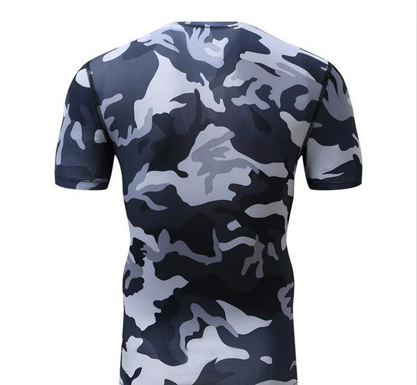 2017 spring sports casual suit male sportswear male camouflage tights body suit