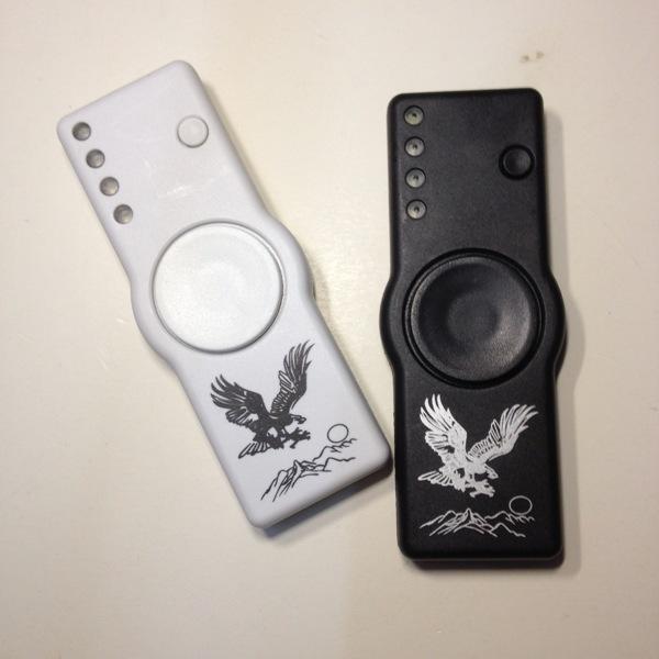 Fidget Spinner Cigarette Lighter LED Hand Spinner Plastic Gyro Finger Tip with opp bags DHL Free Shipping