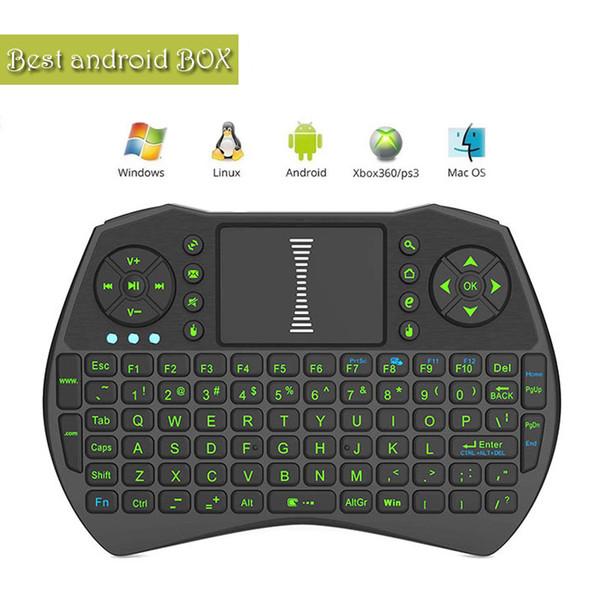 Rii I9 Mini Teclado Portátil Teclados Sem Fio Bluetooth Fly Air Mouse Multi-Mídia Touchpad Controle Remoto jogo Handheld MXQ Android PC
