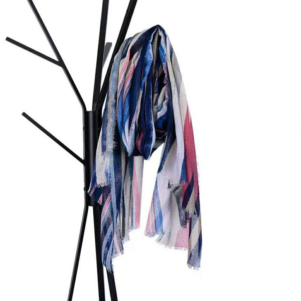 Wholesale fashionable linen striped women autumn scarf functional 3 colors available big size
