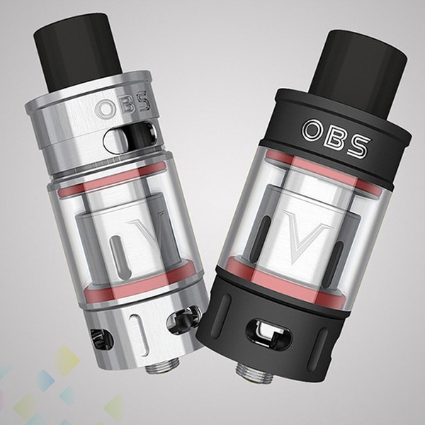 Authentic OBS V Tank Sub Ohm Atomizer 5.2ml Large Capacity Smoky High Power Silver Black E Cigarette DHL Free