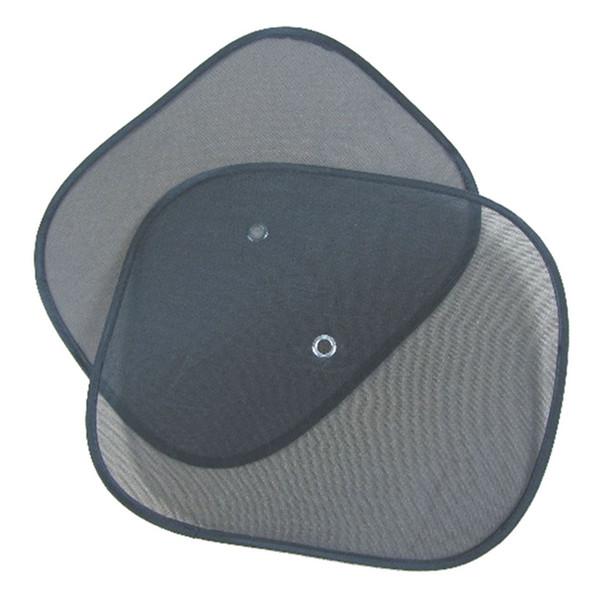 Wholesale- Car-styling 2pcs Black Side Car Sun Shade Rear Window Sunshade Cover Mesh Visor Shield Screen Jun12#2