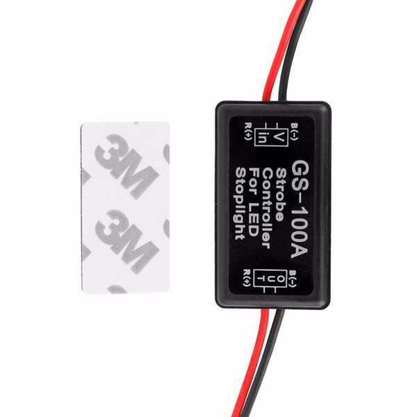 best selling Universal GS-100A 12--24V Flash Strobe Controller Flasher Module for LED Flashing Back Rear Brake Stop Light Lamp Car Accessories