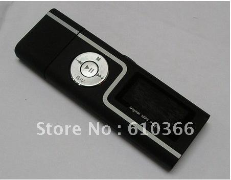 Wholesale- 3pcs USB flash drive lettore mp3 4 GB Dual jack per cuffie 1.3