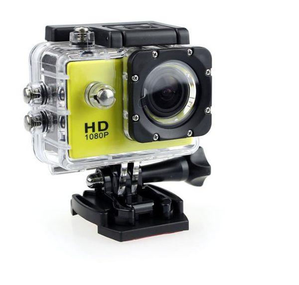 Nueva 1080 P Full HD Action Digital Sport Camera 2 pulgadas de pantalla debajo de la prenda impermeable 30M DV Grabación Mini Sking Bicicleta Foto Video Cam 25PCS