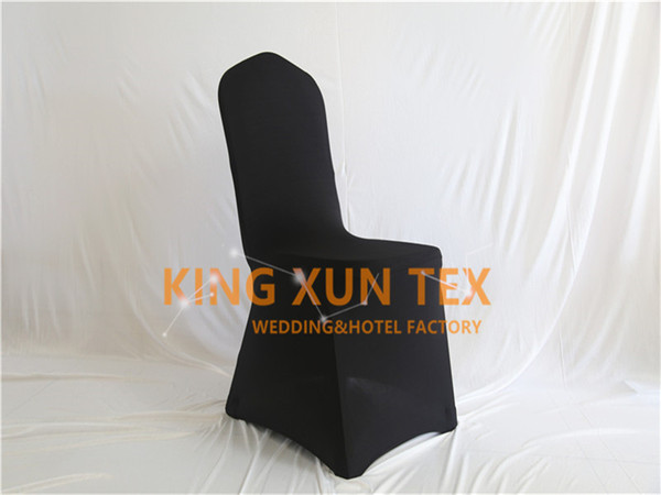 Black Color 50pcs Sold Lycra Chair Cover Cheap Wedding Spandex Chair Cover Good With Flat Front Quality Free Shipping