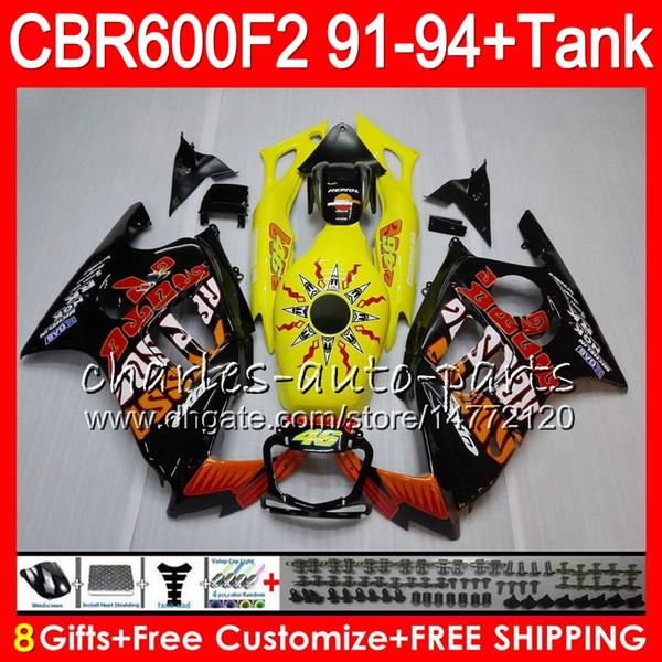 Repsol black 8 Gifts 23 Colors For HONDA CBR600F2 91 92 93 94 CBR600RR FS 1HM42 CBR 600F2 600 F2 CBR600 F2 1991 1992 1993 1994 black Fairing