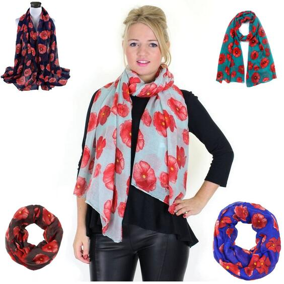 Factory Direct Sale Flower Print Voile Cotton Infinity Scarf Fashion Circle Scarf Large Size Long Scaves Women around Scarfs 8 COLOrs