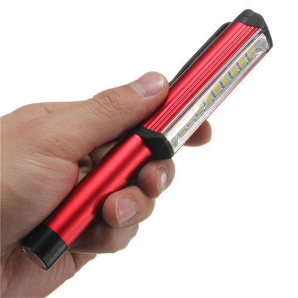 COB LED Mini Pen Multifunction clip Torch Flashlight Waterproof Aluminium Alloy Handle Work Flashlight Cob Work Hand Torch