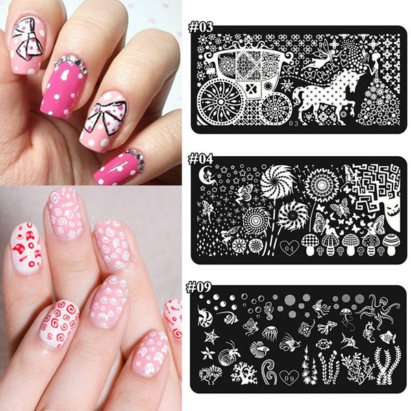 Wholesale Diy Stencils Manicure Styling Tools Stamping Nail Art ...