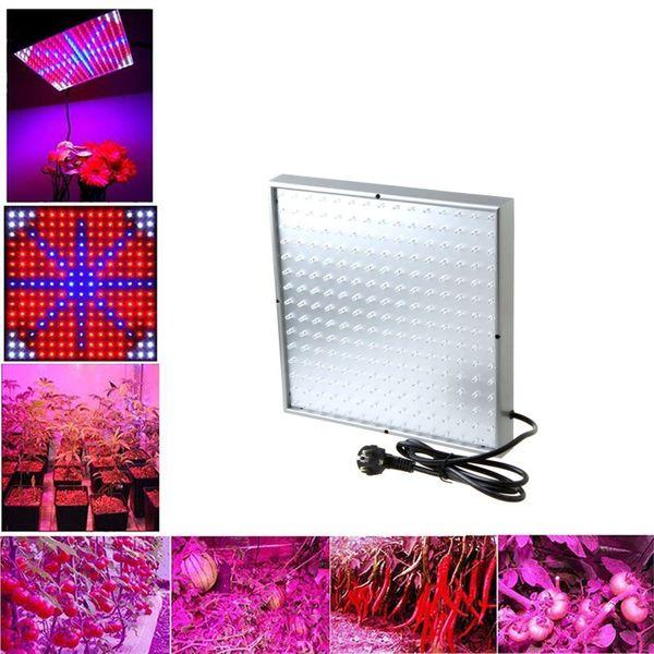225leds LED Planta Hidropônica Crescer Luz Full Spectrum LEVOU Luzes Do Painel de Teto Para A Flor Vegetal Crescente Crescimento de Plantas de Luzes 15 W