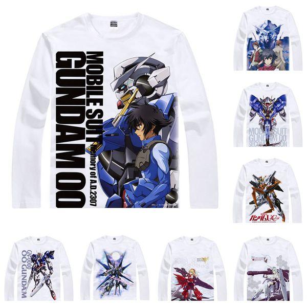 Anime Shirt Mobile Suit Gundam Unicorn T-Shirts Multi-style Long Sleeve Giant Robots First Gundam 0079 Cosplay Motivs Kawaii Shirts