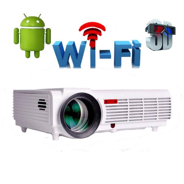 Gros-Wifi 3D Android 4.4 natif 1280 * 800 soutien 1080 P 5500 Lumens projecteur led projektor projeteur beamer pour home cinéma led96