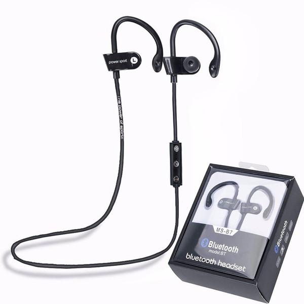 MS-B7 Sport Bluetooth 4.1 Wireless Stereo Headset Ohrhörer Kopfhörer mit Ohrbügel Freisprecheinrichtung mit Mikrofon für iPhone 7 Samsung Smartphone