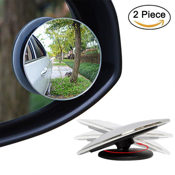 top popular 360 Degree HD Glass Frameless Blind Spot Mirror Car Styling Wide Angle Round Convex Rear View Parking Mirrors 2021