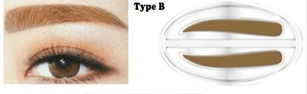 Tipo B con color marrón oscuro