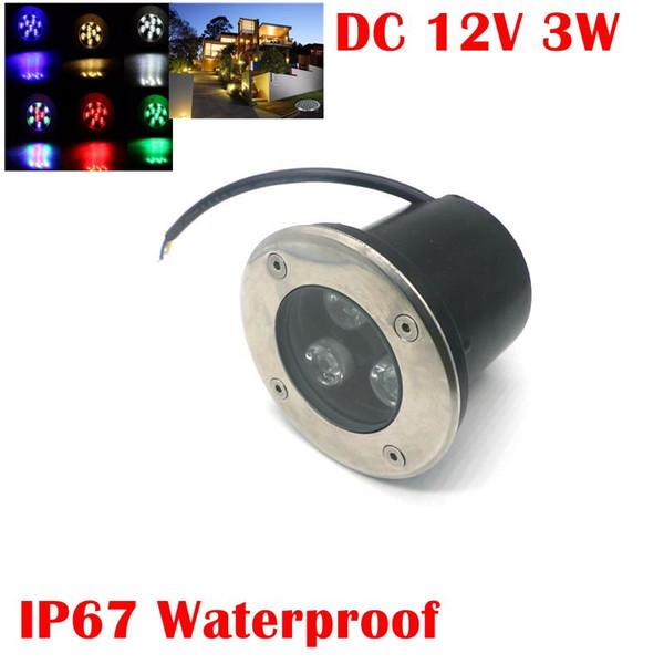 Umlight1688 12V 3W Led RGB Lámpara de cubierta de luz subterránea Exterior IP67 Enterrado luces empotradas en el piso Cálido / frío Blanco Rojo Azul Verde con control remoto