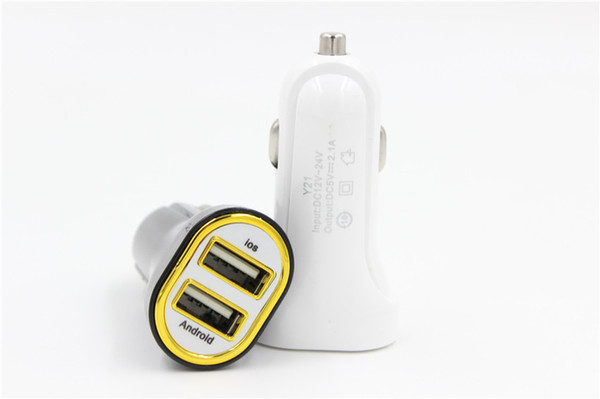 Double USB Chargeur De Voiture Voyage Adaptateur Universel Rapide Adaptateur De Charge 5 V 2.1A Pour IOS Android Téléphone Chargeur De Voiture