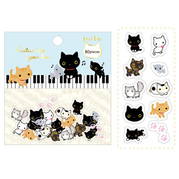 best selling Wholesale- 80 pcs lot Cute cartoon animals paper sticker package DIY diary decoration sticker scrapbooking kawaii stationery