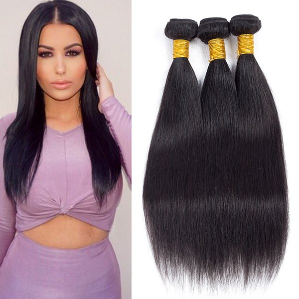 Top Best Selected Hair Vendors Mink Brazilian Straight Human Hair Weave Bundles Long Mix Length 8-26 inch Peruvian Virgin Hair Bundle Deals