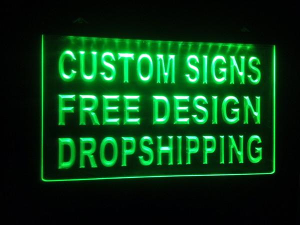 best selling design your own custom Light sign hang sign home decor shop sign home decor