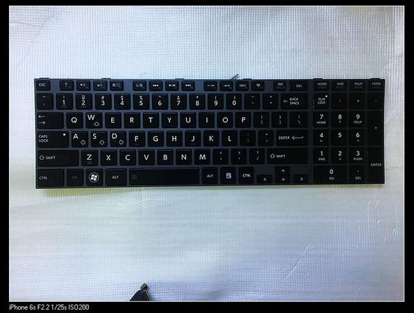 Pour Toshiba Qosmio X870 X875 ordinateur portable US clavier rétro-éclairé V000280630 V130426CS1 US 6037B0068402