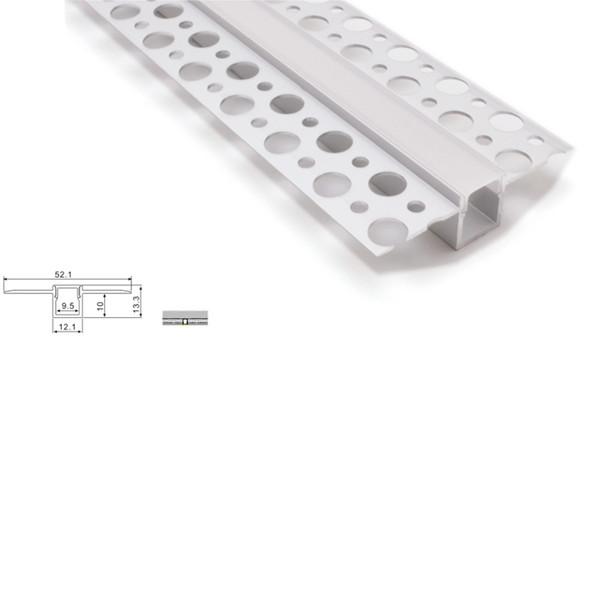 Acheter 10 X 1m Ensembles Nouveau Développé Profilé En Aluminium Pour Les Bandes Dirigées Et Super Profil Plat T Canal Pour La Lumière Au Plafond Ou