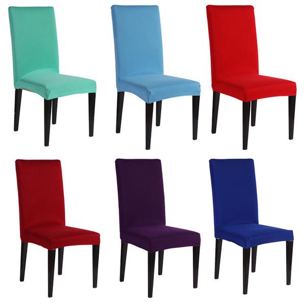 8 5yy Einfache Dickere Elastizität Esszimmer Stühle Abdeckung Halb Universal Weichen Sitze Stuhlhussen Für Office Home Hotel Bunte
