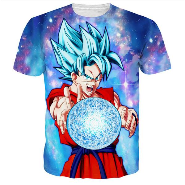 4ba42759 Dragon Ball Z T shirt Super Saiyan Son Goku Gohan Vegeta Frieza Freezer 3D  Men Summer T