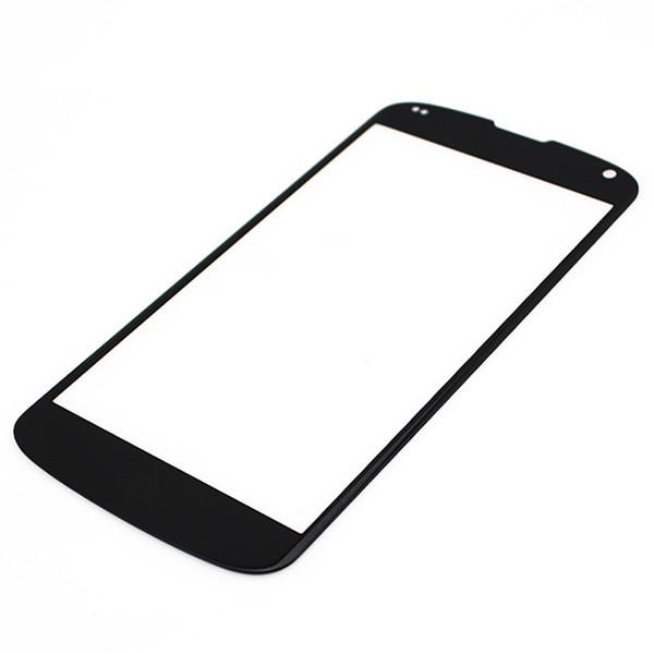 100PCS Внешний передний экран Стеклянная панель Замена объектива для LG Google Nexus 4 5 5x бесплатно DHL