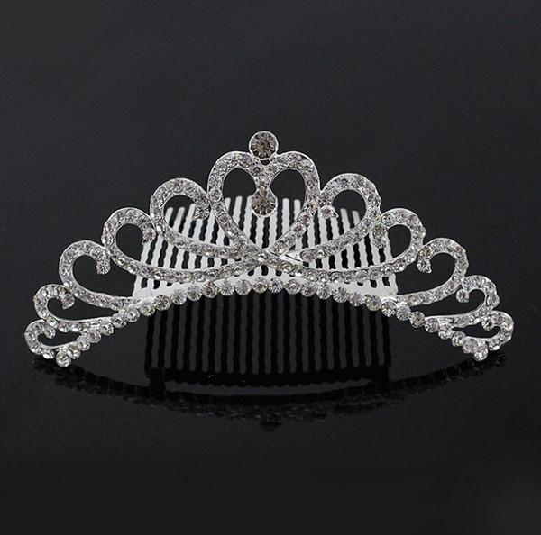 Gorgeous Mini Crystal Rhinestone Diamante Bridal Princess Crown Hair Comb Tiara Party Wedding Women Girl Gift Jewelry