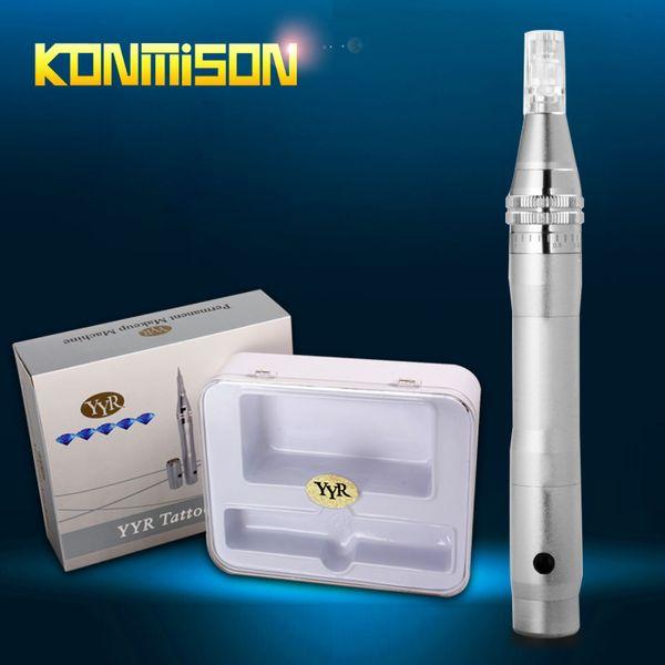 2016 recargable Derma Pen Micro aguja Dermapen con 2 piezas de baterías para el rejuvenecimiento de la piel envío libre de DHL