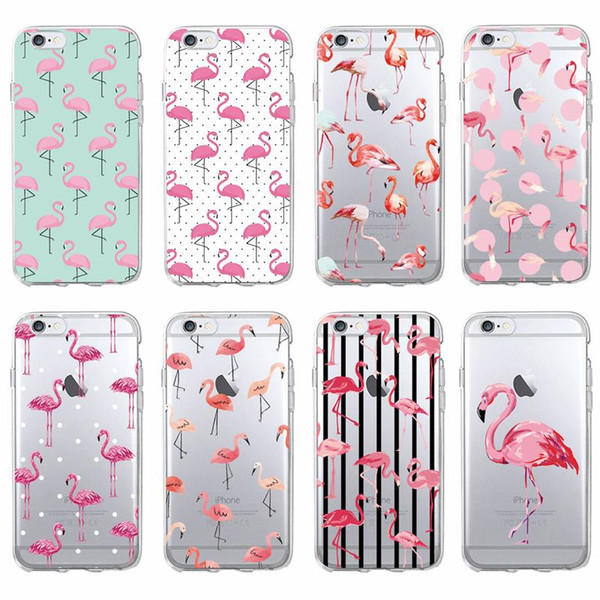 Cute Summer Tropical Flamingo Animal Soft Clear Phone Case For iPhone 7 7Plus 6 6S 8 8Plus X XS Max SAMSUNG