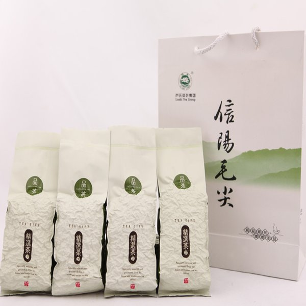 top popular High quality! Xinyang mao jian green tea! 250g (125g * 2 bags)! New herbal tea! Slimming tea! Free shipping buy 2 get the gift 2019