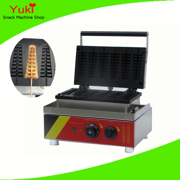 Commercial Electric Lolly Waffle Maker Christmas Tree Shape Waffle Making Machine Egg Waffle Machine for sale